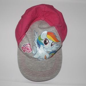 My Little Pony Rainbow Dash Hat Pink & Gray Girls